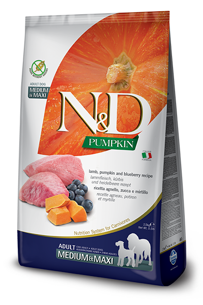 N&D GF Pumpkin DOG Adult M/L Lamb & Blueberry 12kg