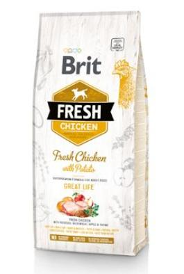 Brit Fresh Dog Chicken & Potato Adult Great Life 12kg