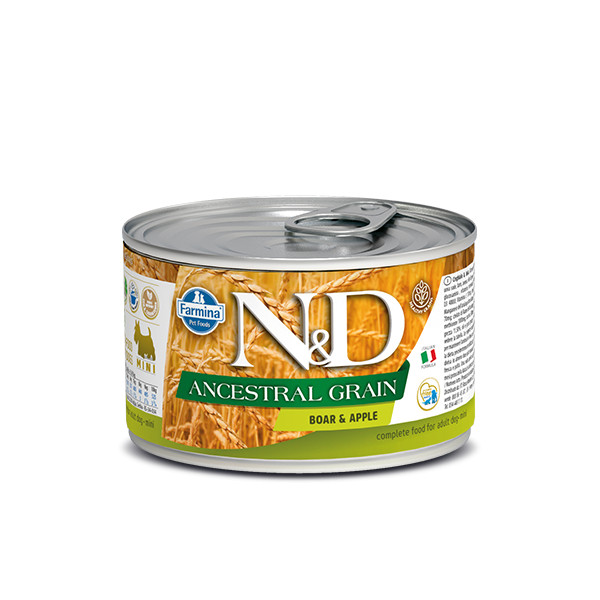 N&D DOG LOW GRAIN Adult Boar & Apple Mini 140g