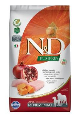 N&D GF Pumpkin DOG Adult M/L Chicken&Pomegranate 3x12kg