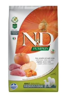 N&D GF Pumpkin DOG Adult M/L Boar & Apple 2x12kg