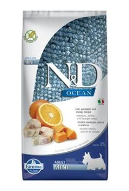 N&D OCEAN DOG LG Adult Mini Codfish & Orange 2x7kg
