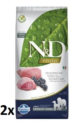 N&D PRIME DOG Adult M/L Lamb & Blueberry 2x12kg