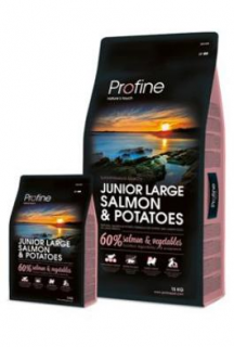 Profine NEW Dog Junior Large Salmon & Potatoes 3 kg